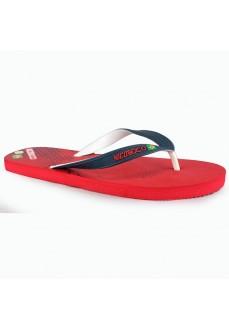 Nicoboco Brasil Red Flip Flops