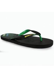Nicoboco Brasil Black Flip Flops