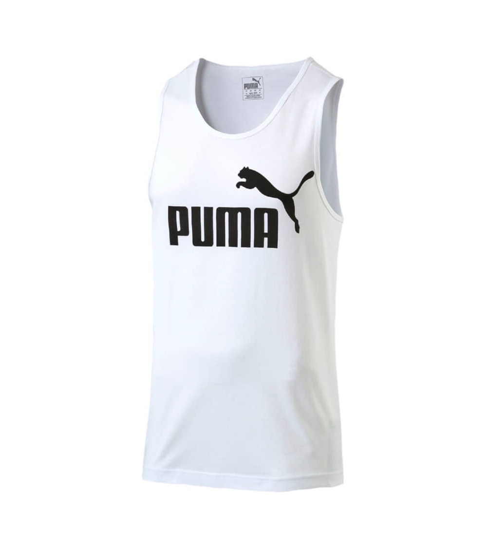 Puma ESS NO.1 TANK - Camiseta de deporte - white uR7IrGXzm