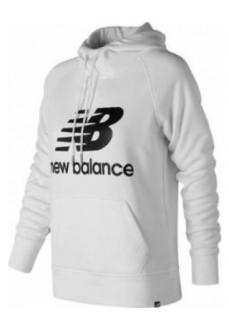 Sudadera New Balance Capucha Logo Bco