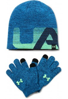 Under Armour Boys Beanie Cap + Gloves