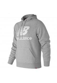 Sudadera N.Balance Capucha Logo Gris