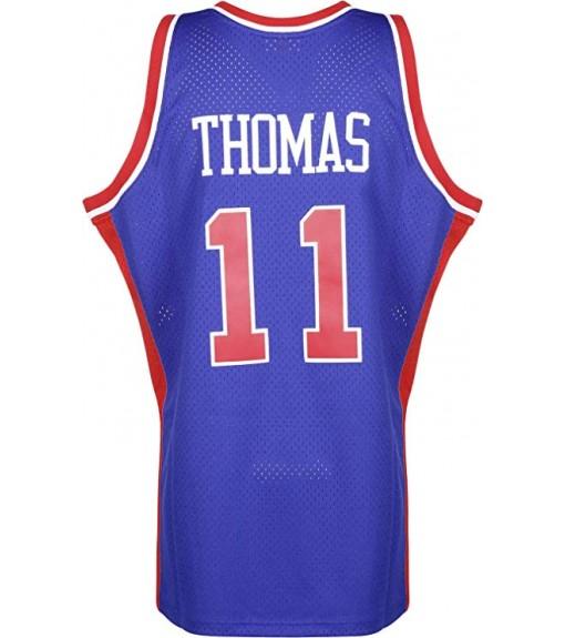 Mitchell & Ness Men's T-Shirt Detroit Pistons Blue SMJTGS18163-SPIROYA88ITH   Basketball clothing   scorer.es