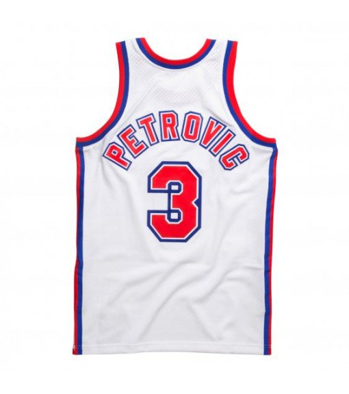 Camiseta Hombre Mitchell & Ness New Jersey D.Petrovic Blanco BA81MB-NJN | scorer.es
