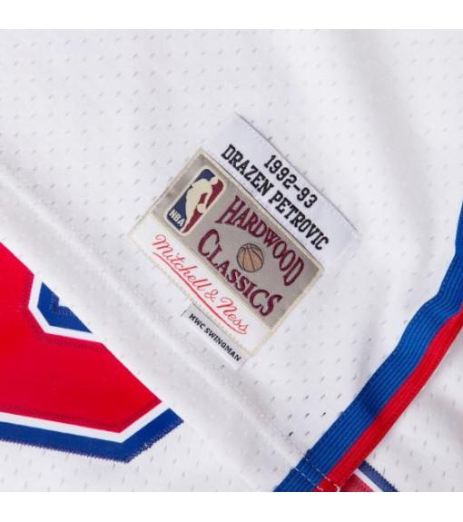 Mitchell & Ness Men's New Jersey D.Petrovic White BA81MB-NJN | Basketball clothing | scorer.es