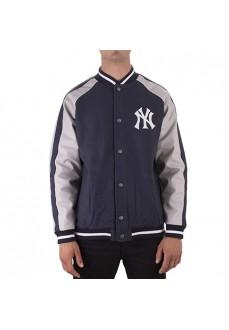 Majestic Jacket Letterman Navy Blue
