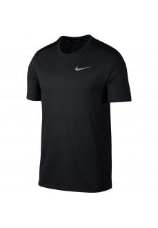 Camiseta Hombre Nike Df Brthe Run Negra 904634-010