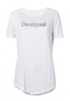 Camiseta Desigual Blanca Essentials tee | scorer.es