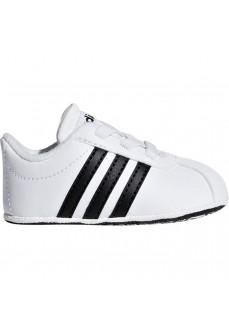 Zapatilla Bebe Adidas Vl Court 2.0 Blanco/Negro F36605
