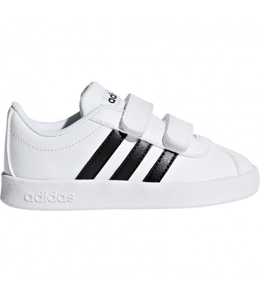 Adidas Infant Trainers VL Court 2.0 White Black Lines DB1839 | No laces | scorer.es