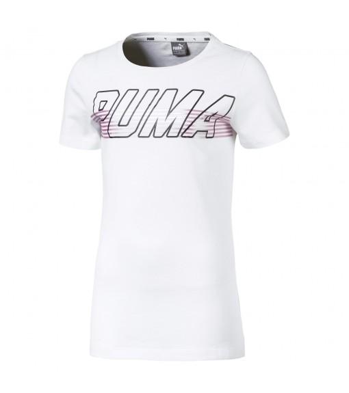 Puma T-Shirt Alpha Logo Tee G Pale   Short Sleeve   scorer.es