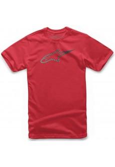 Camiseta Hombre Alpinestars Angeless Grade Tee Roja 1119-72002-30