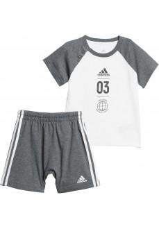 Conjunto Infantil Adidas Summer Set Gris DV1237 | scorer.es