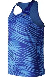 Camiseta Hombre New Balance Prnt Acclrt Singlet Azul Mt91166 BB