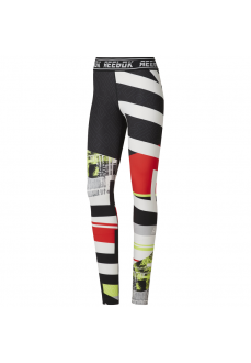Reebok Women's Tights Wor Meet You There Engineer Neon Lima Du4828