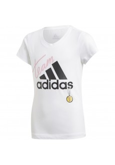 Adidas Girls' T-Shirt ID Graphic White DV0284