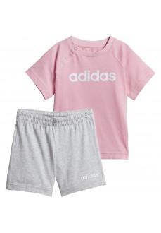 Conjunto Bebe Adidas Linear Summer Rosa DV1269 | scorer.es