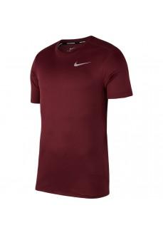 Camiseta Hombre Nike Dri-Fit Breathe Run Granate 904634-681 | scorer.es