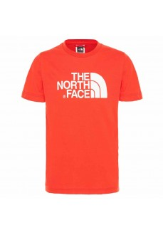 The North Face Kids' T-Shirt Easy Tee/Fiery Red NF00A3P7M6J1 | Short Sleeve | scorer.es