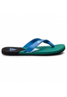 Chancla Adidas Hombre Hawaiana Eezay Azul/Blanco/Verde F35025