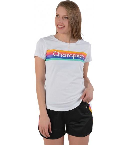 Camiseta Mujer Champion Cuello Caja WW001 Blanca   scorer.es