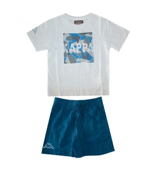 Camiseta Kappa Ioudaso Set White/Blue Navy 304PDB0 | scorer.es