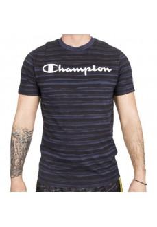 Camiseta Hombre Champion Cuello Caja Marino/Negro 212687-BL506 | scorer.es