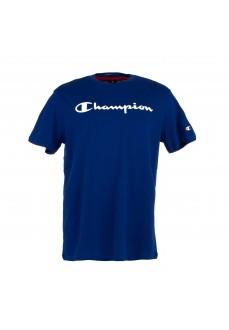 Camiseta Hombre Champion Cuello Caja Dsb Azul 212687-BS025 | scorer.es