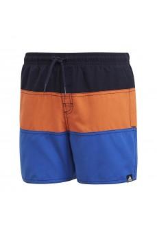Adidas Kids' Swimsuit Colorblock Navy Blue/Orange/Blue DQ2980 | Swimwear | scorer.es