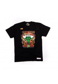 Camiseta Mitchel & Ness Hombre Green Champions Chicago Bulls BMTRMM18216-CBUBLCK