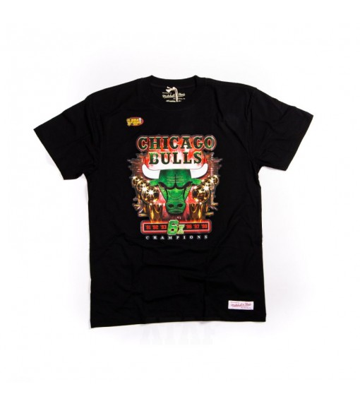 Mitchel & Ness Men's T-Shirt Green Champions Chicago Bulls BMTRMM18216-CBUBLCK | Men's T-Shirts | scorer.es