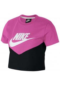 Camiseta Mujer Nike Sportswear Heritage Negro/Rosa AR2513-013 | scorer.es