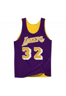 Camiseta Hombre Mitchell & Ness Tank Lakers Amarilla Reversible LALLGPR1EJH84 | scorer.es