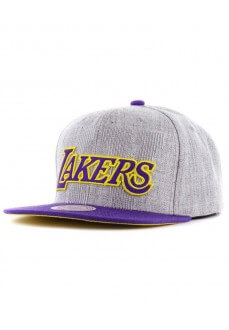 Gorra Mitchel & Ness Los Angeles Lakers Gris 6HSSMM18254-LALGRHT