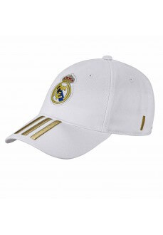 Gorra Adidas Real Madrid 3-Stripes Cap Blanca DY7720