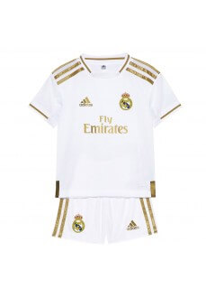 Minikit Adidas Real Madrid 1ª Equipación 2019/2020 Blanco/Oro DX8843 | scorer.es