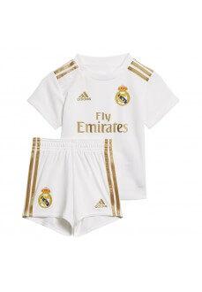 Minikit Adidas Real Madrid 1ª Eq 2019/2020 Blanco/Oro DX8839 | scorer.es