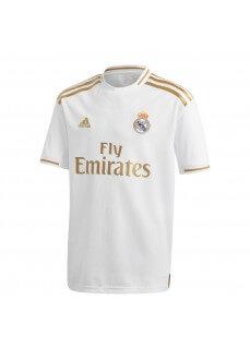 Camiseta Niño Adidas Real Madrid 1ª Equipación 2019/2020 Blanco/Oro 2019/2020 Blanco/Oro DX8838