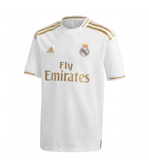 Camiseta Niño Adidas Real Madrid 1ª Equipación 2019/2020 Blanco/Oro 2019/2020 Blanco/Oro DX8838 | scorer.es