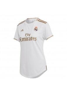 Camiseta Mujer Adidas Real Madrid 1ª Equipación 2019/2020 Blanco/Oro DX8837