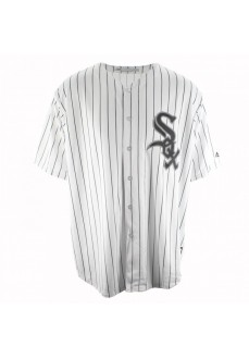 Camiseta Majestic Hombre Chicago White Sox Replica Cool Base MLB Jersey Blanco Rayas 7700-WSXH-RX-RJH | scorer.es