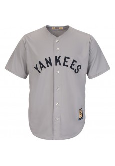 Camiseta Majestic Hombre New York Yankees Replica Cool Base Gris 7267-N27G-N27-CTM | scorer.es