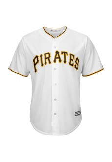 Camiseta Majestic Hombre Pittsburgh Pirates Replica Cool Base MLB Jersey Blanco 7700-PIRH-PTB-RJH | scorer.es
