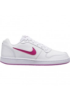 Nike Women's Trainers Ebernon Low White/Pink AQ1779-103