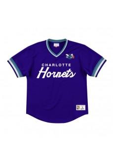 Camiseta Mitchell & Ness Hombre Charlotte Hornets Morada MSPOMG18058-CHODKPR