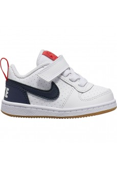 Zapatilla Nike Infantil Court Borough Low Blanco/Marino 870029-105 | scorer.es