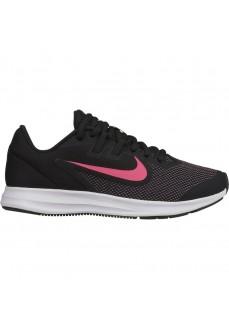 Zapatilla Nike Niño Downshifter 9 (GS) Negra Con Simbolo Rosa AR4135-003