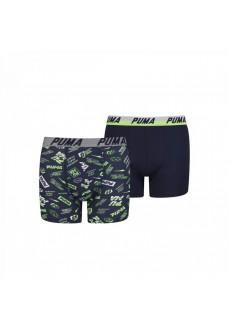 Boxer Puma Niño Basic 2P Seasonal Marino/Verde/Blanco 695003001-226
