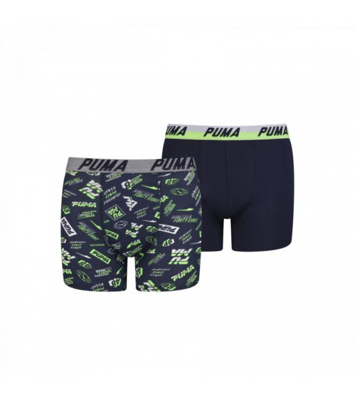 Puma Kids' Boxer Basic 2P Seasonal Navy Blue/Green/White 695003001-226 | Underwear | scorer.es