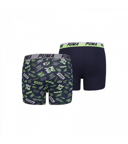 Puma Kids' Boxer Basic 2P Seasonal Navy Blue/Green/White 695003001-226   Underwear   scorer.es